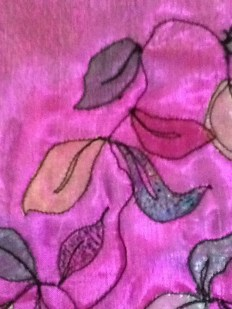 fusing fabric leaves