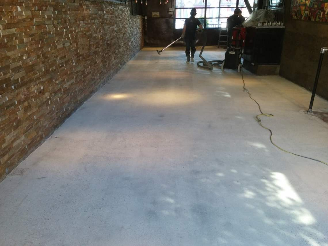 Polished Concrete Floor Restaurant