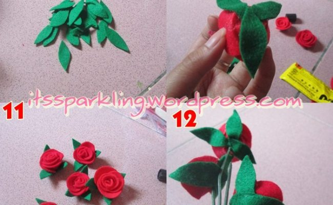 Diy Bunga Dari Perca Flanel Just A Little Inspiration Cute766