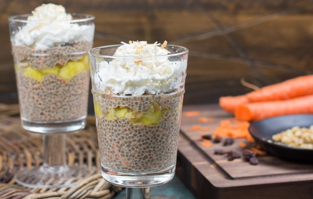 This carrot cake chia pudding is vegan, paleo, gluten-free, and packed with fiber and nutrients. It's the perfect way to start your day!