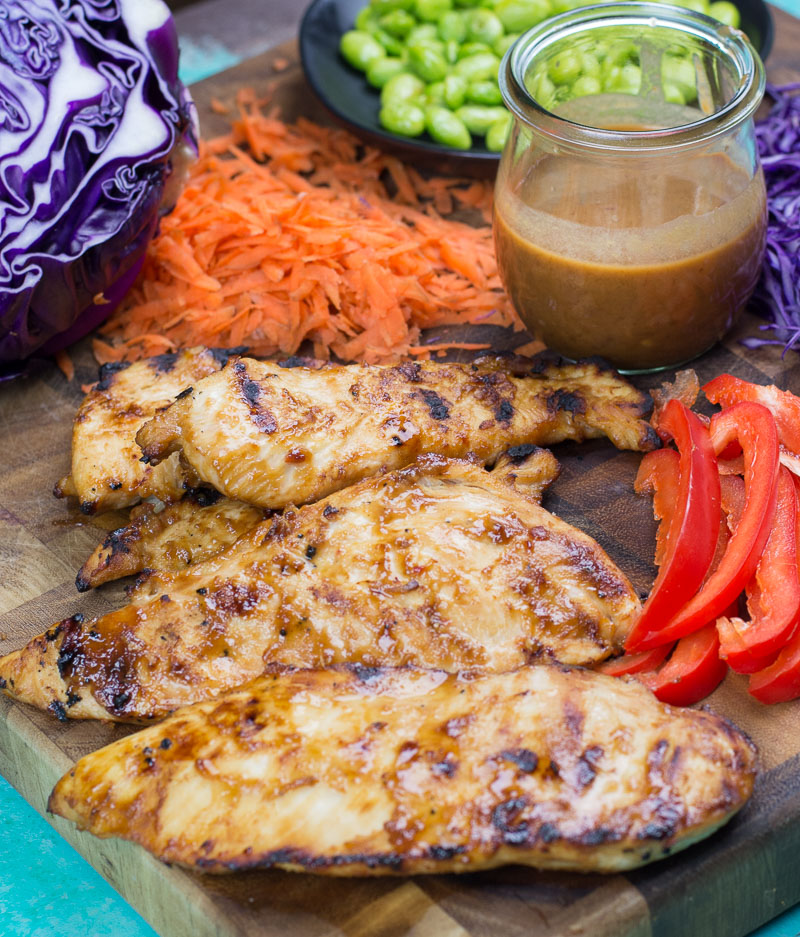Grilled Thai Chili Chicken is the perfect combination of sweet and spicy! This chicken makes an incredible dinner, salad or wrap option.