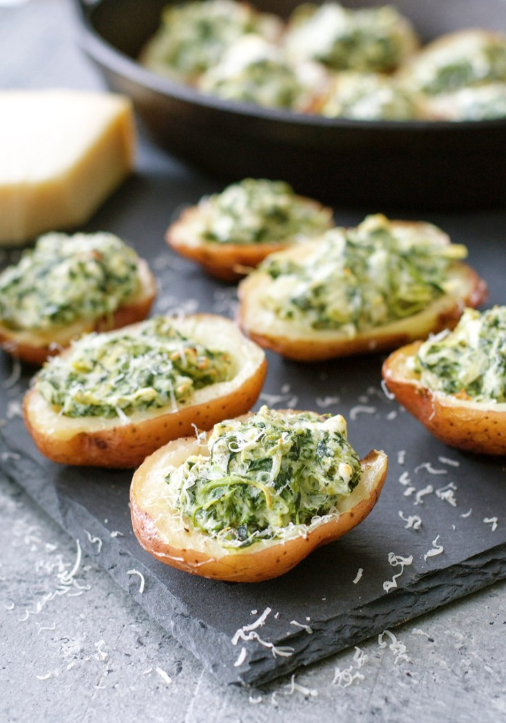 You can make these Spinach & Artichoke Stuffed Potato Skins with just five simple ingredients that you probably already have on hand! This easy recipe will become a family favorite!