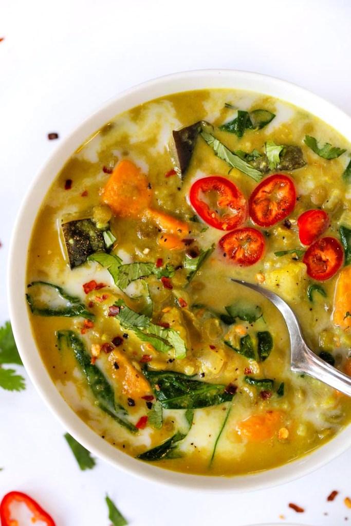 coconut milk green curry recipe