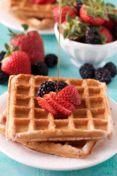 Gluten-Free Strawberry Vanilla Waffles