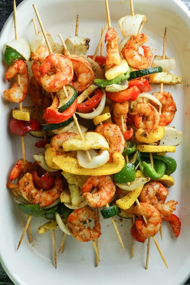 Grilled Shrimp and Vegetable Kabobs