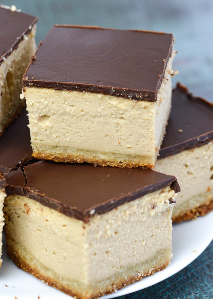 Try these Keto Peanut Butter Cheesecake Bars for a creamy, decadent, low carb treat!
