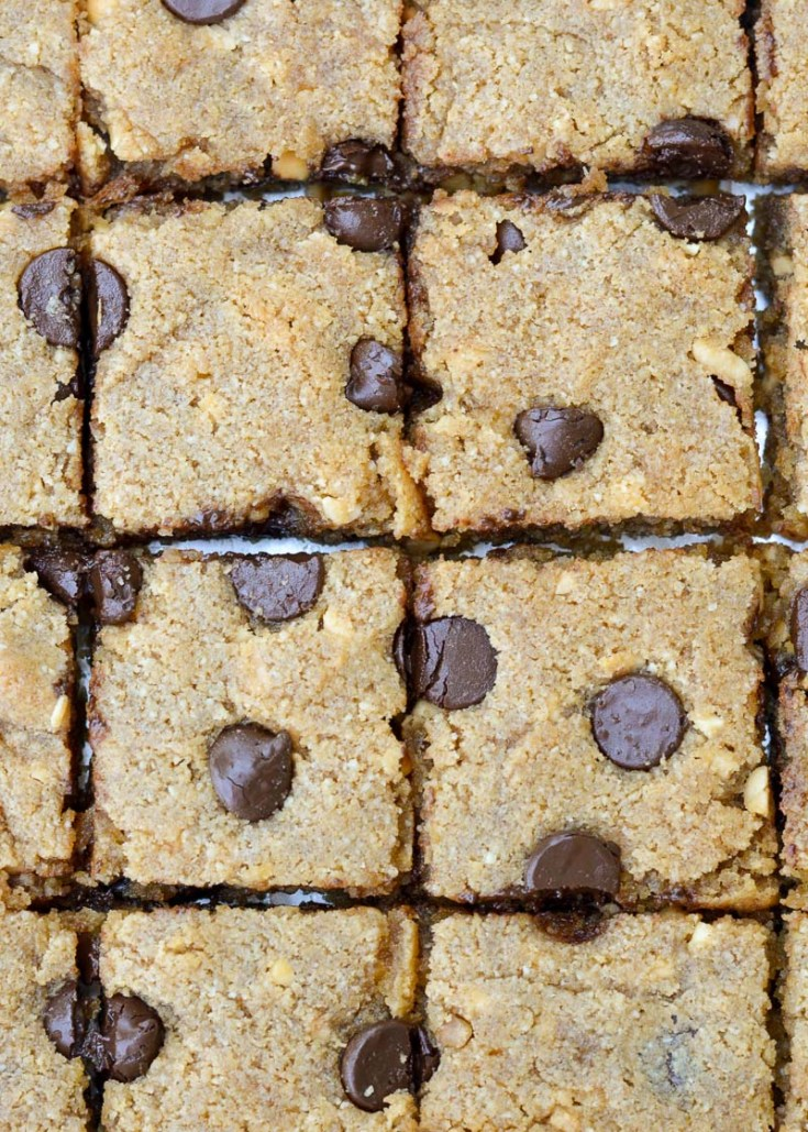 Keto Chocolate Chip Bars are super easy to make for a crowd!