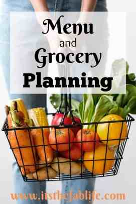 Menu and Grocery Planning | Home Management | Meal Prep | #organization #menu #planning