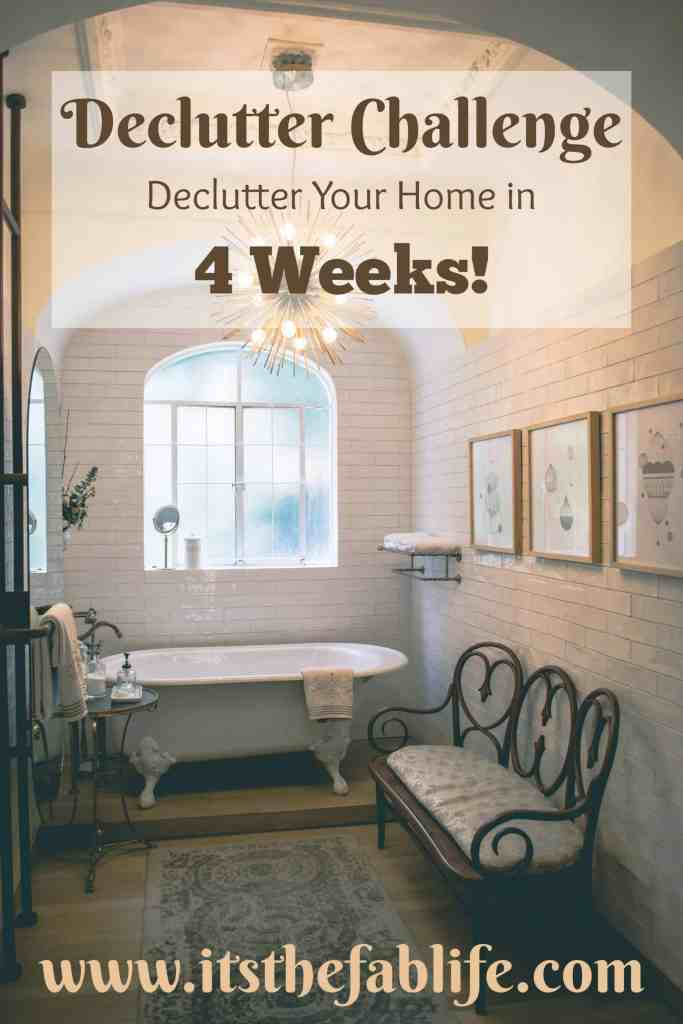 4-Week Declutter Challenge | Declutter Your Home in 4 Weeks | #organization #cleaning #decluttering #organize #clean #declutter #homemanagement