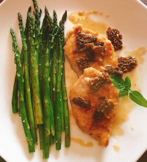 Chicken Marsala with Roasted Asparagus