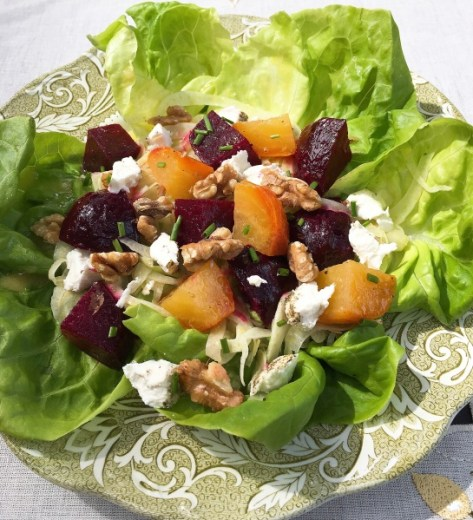 Beet Fennel Goat Cheese Salad