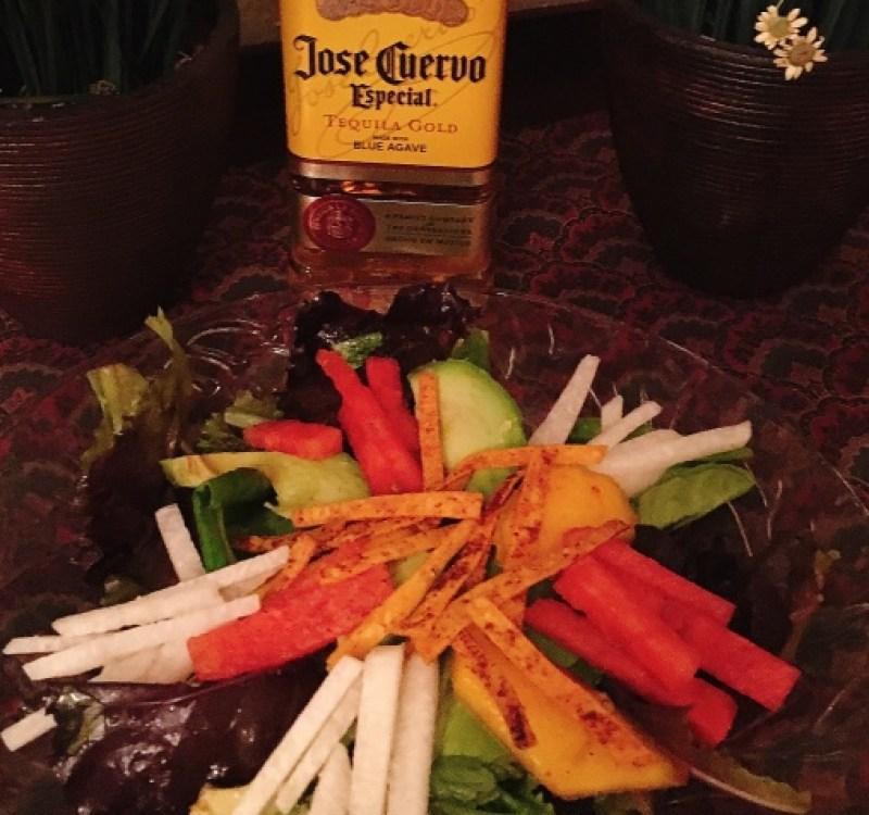 Watermellon Mango Salad with Tequila Vinaigrette