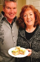 Jeff And Bridget With Sandwich