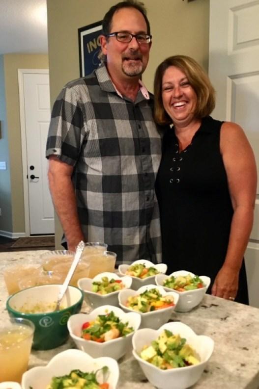 Tex-Mex Shrimp Cocktail creators - Brian and Lynda