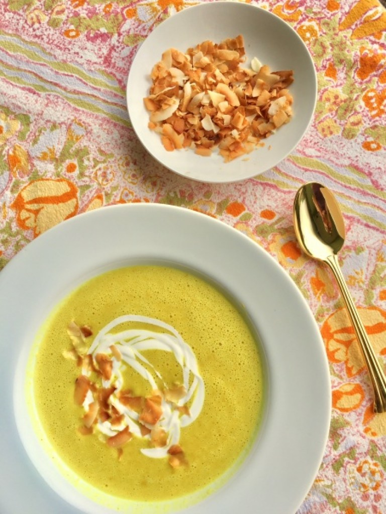 Curried Coconut Summer Squash Soup