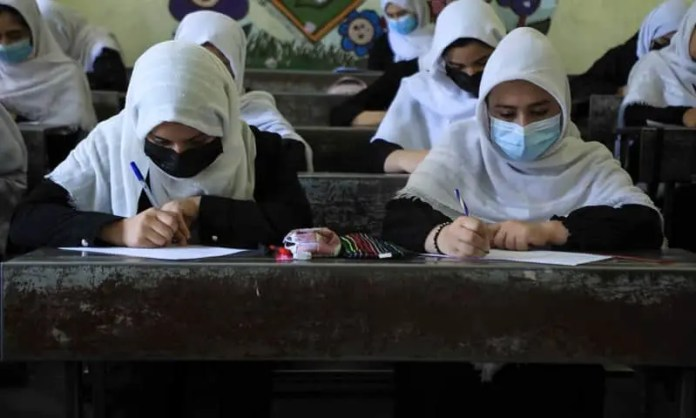 After-Taliban-control-Afghan-girls-return-to-school-in-Herat-city