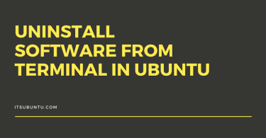 uninstall software from terminal in ubuntu