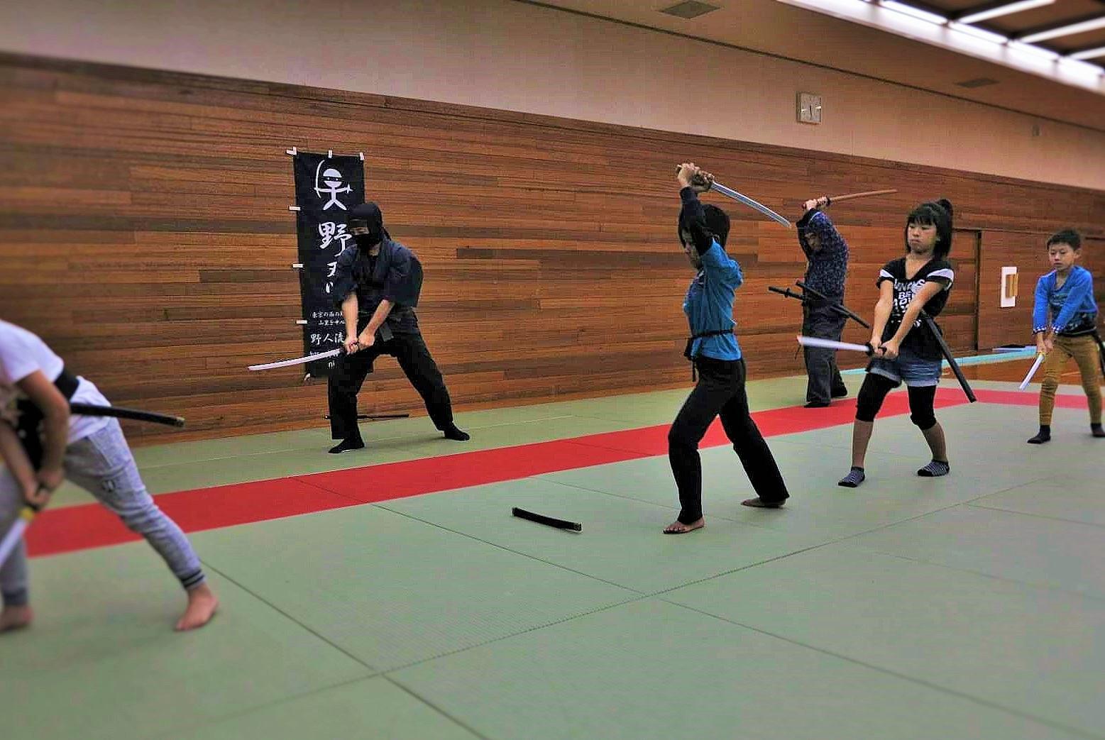 4月の忍者教室は初心者歓迎の会。色々な忍術をプチ体験できます!