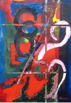 Complejo Sentimiento 68 mi segunda pintura del 2014