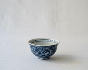 Arita Indigo Rice Bowl Karakusa
