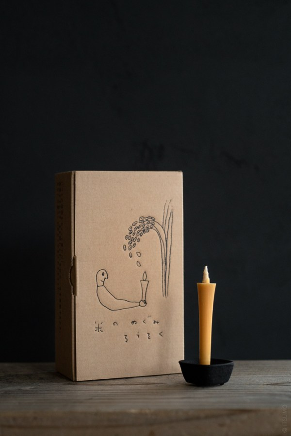 Takazawa Candle_Kome-no-Megumi Candle_top