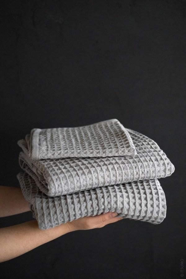 Uchino Air Waffle Towel_grey