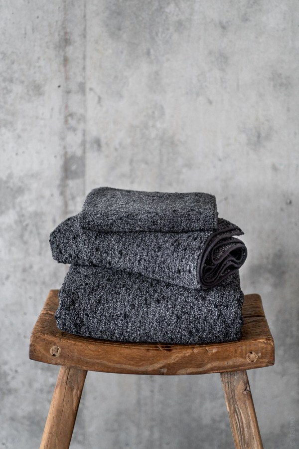 Uchino_Kishu Binchotan Charcoal Towel_black_top
