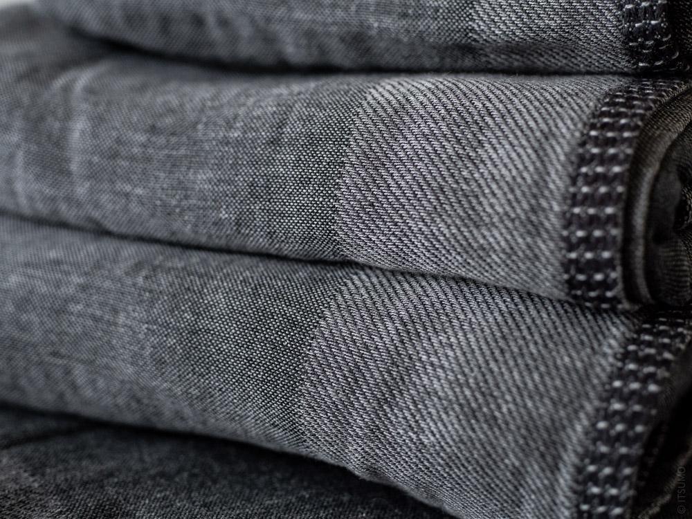 Uchino_Zen Charcoal Gauze & Pile Towel_dark grey
