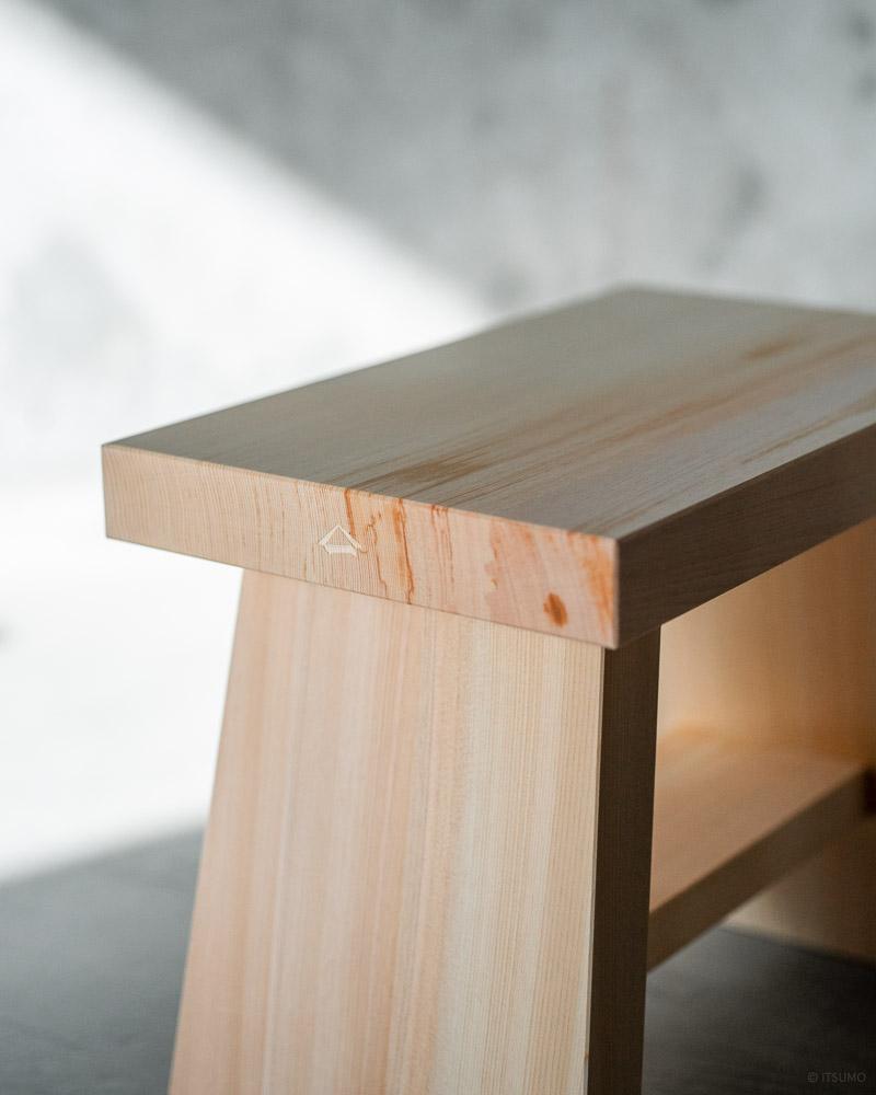 azmaya-hinoki bath stool-japanese cypress wood-2