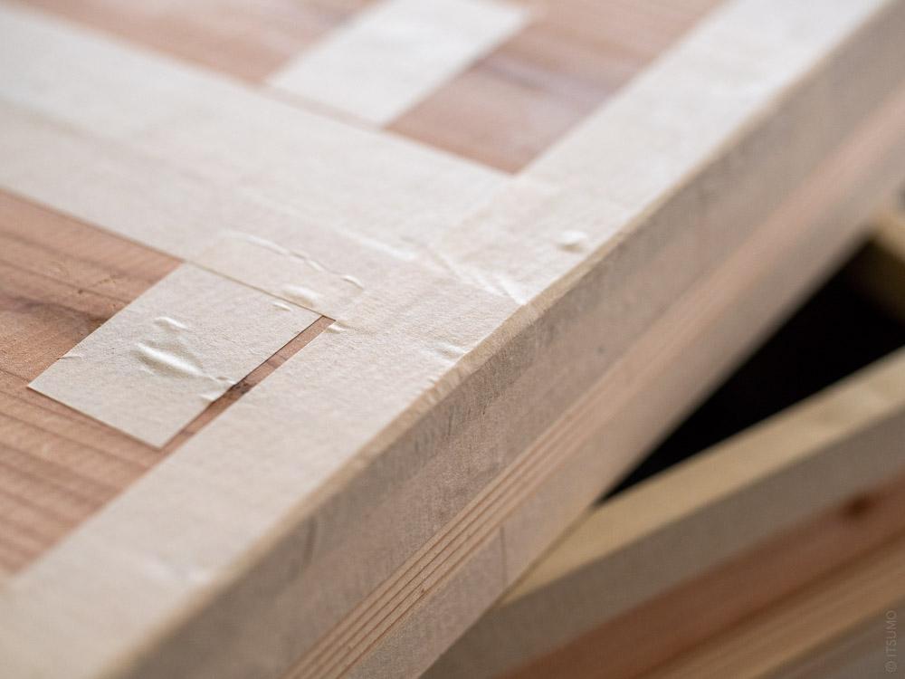 Azmaya_Cedar Tea Storage Box_Paper tape detail