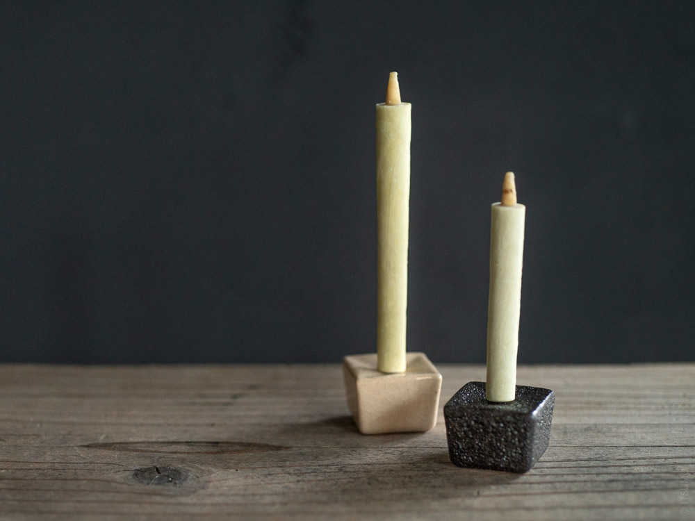 Daiyo_Rippoh Candle Stand_Sumac Wax Candle