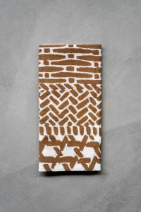 Kamawanu_Tenugui_Cotton Linen Mix_Kagome Basket_brown_top