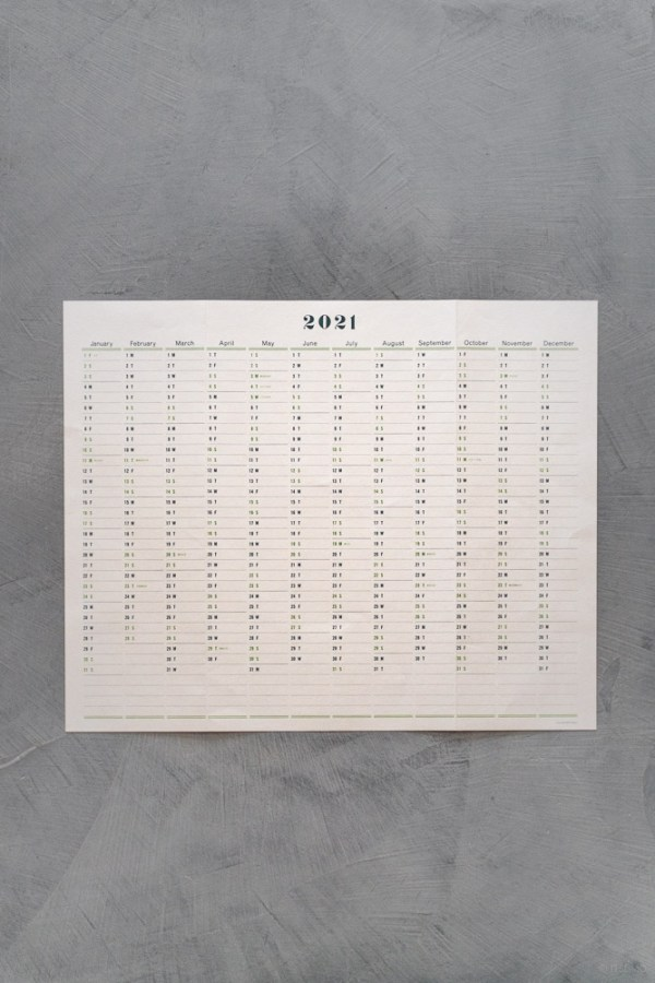 Postalco_One Year Wall Calendar 2021_top