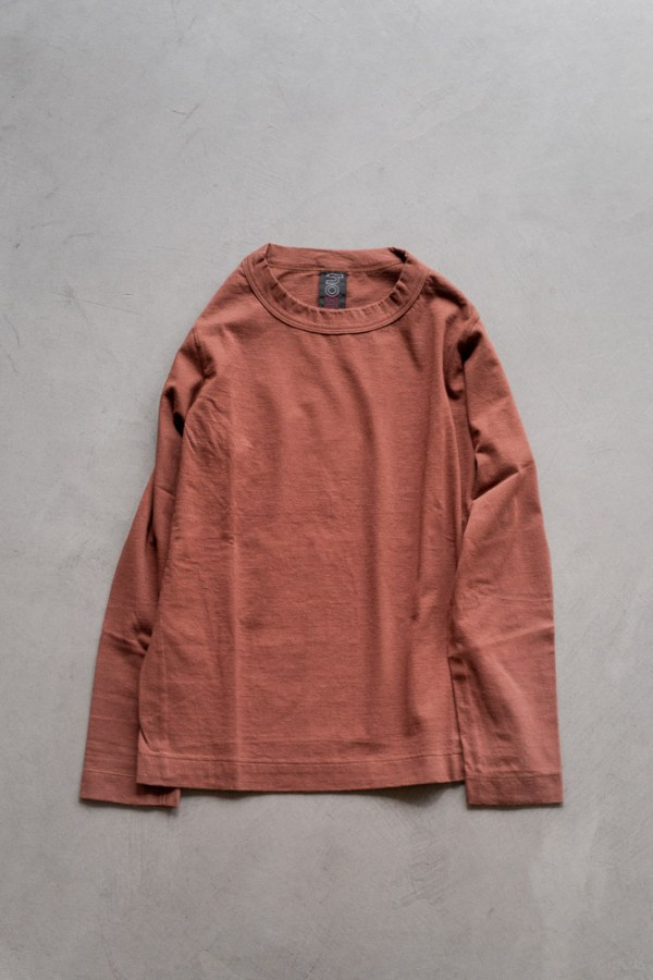 Homspun_Long Sleeve T-shirt_brown_top