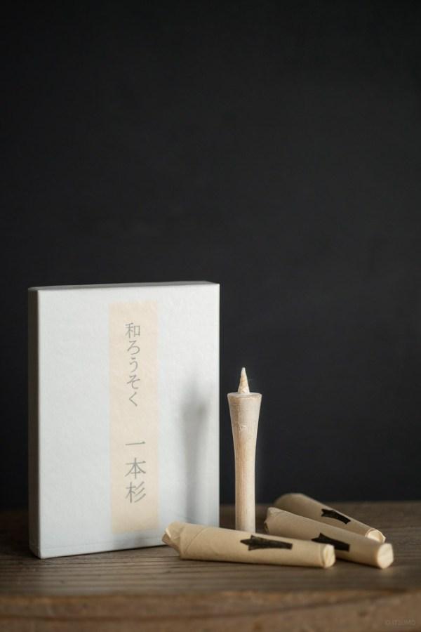 Takazawa candle_Ipponsugi Candle_top