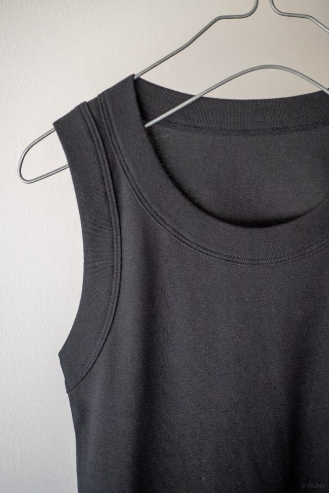 homspun-women's cotton tank top-black-2