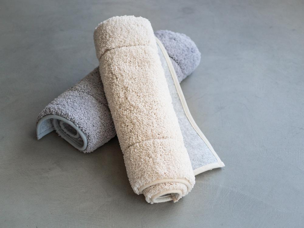 Uchino_Quick Dry Bath Mat - Beige & Grey-1