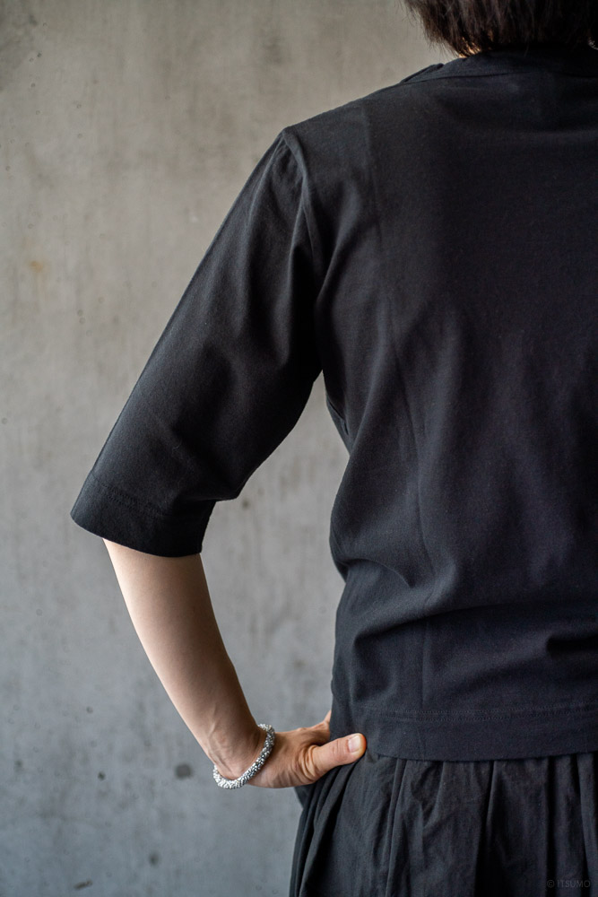homspun-women's cotton half sleeve t-shirt-black-3