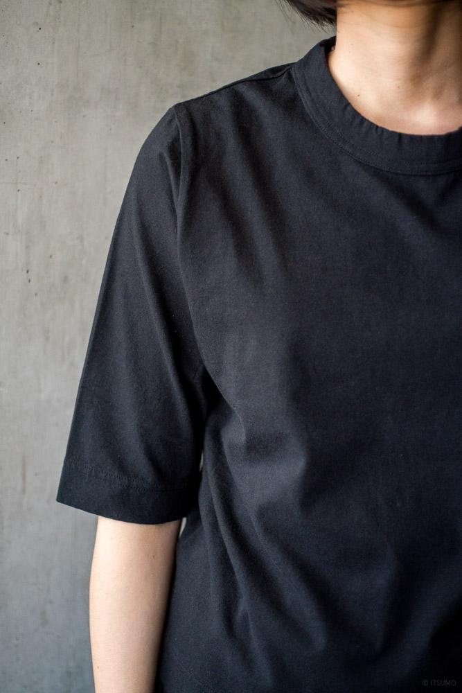homspun-women's cotton half sleeve t-shirt-black-4