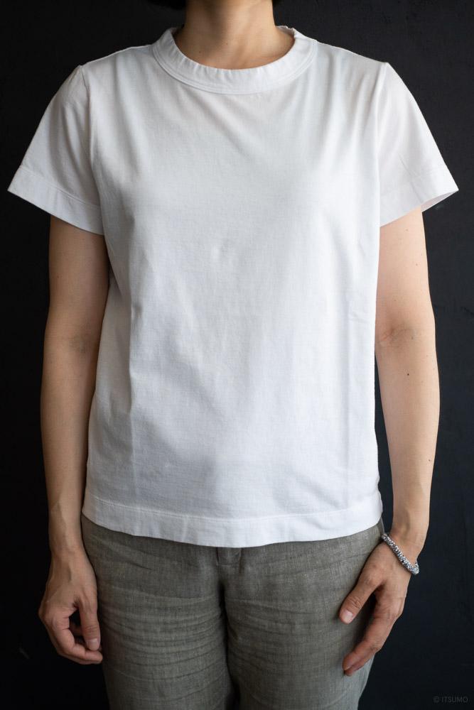 homspun-women's cotton short sleeve t-shirt-white-2