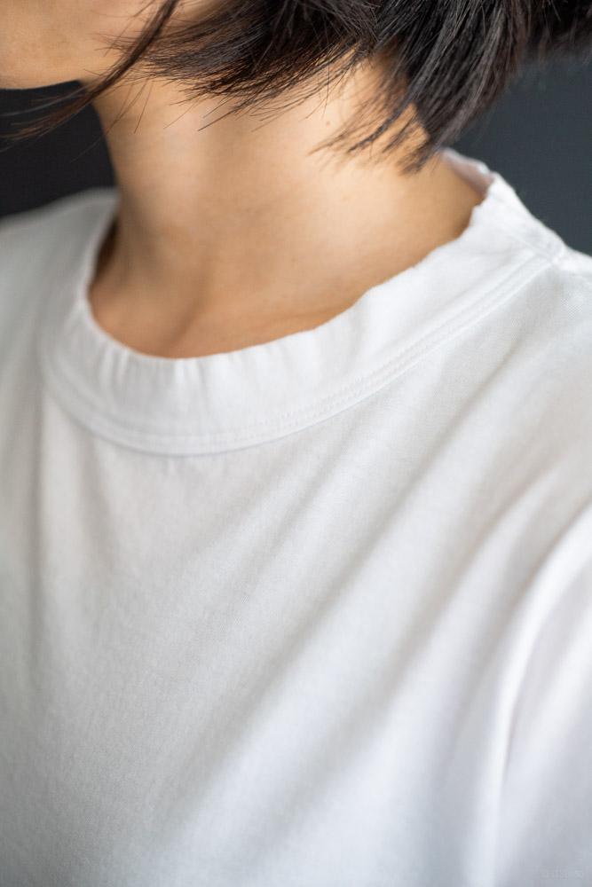 homspun-women's cotton short sleeve t-shirt-white-5