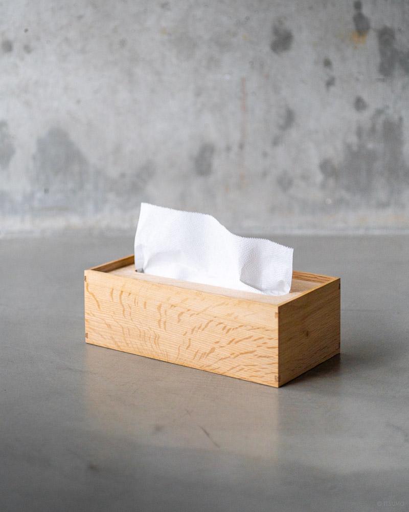 azmaya-mizunara paper towel box-japanese oak-tissue box-1