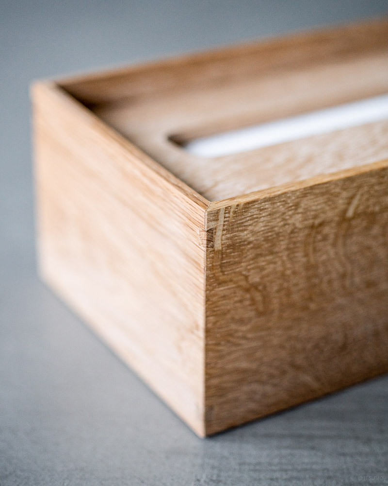 azmaya-mizunara paper towel box-japanese oak-tissue box-6