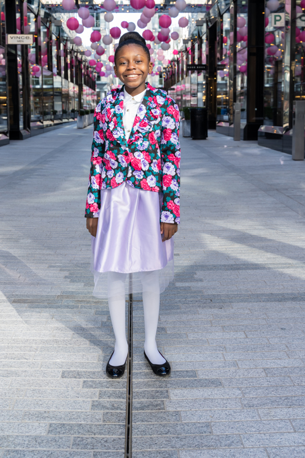 Janie and Jack Floral Blazer and Tulle Skirt