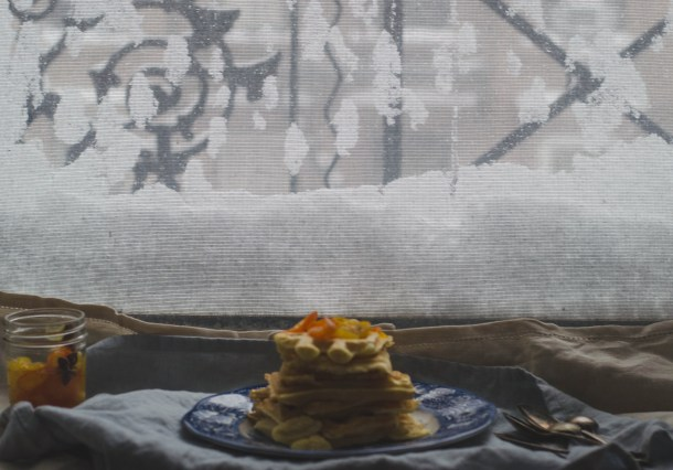 Snowy Candied Kumquats Waffles. - What's Cooking_