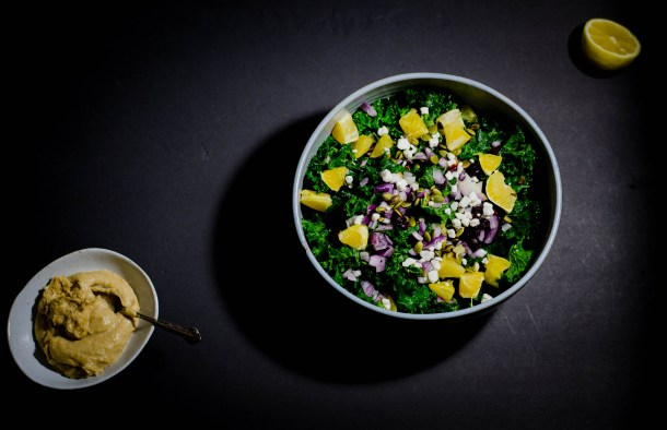 Winter Kale Salad w. Miso .Tahini Dressing. - What's Cooking_