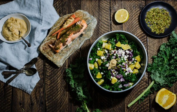 Winter Kale Salad w.. MisoTahini. Dressing. - What's Cooking_