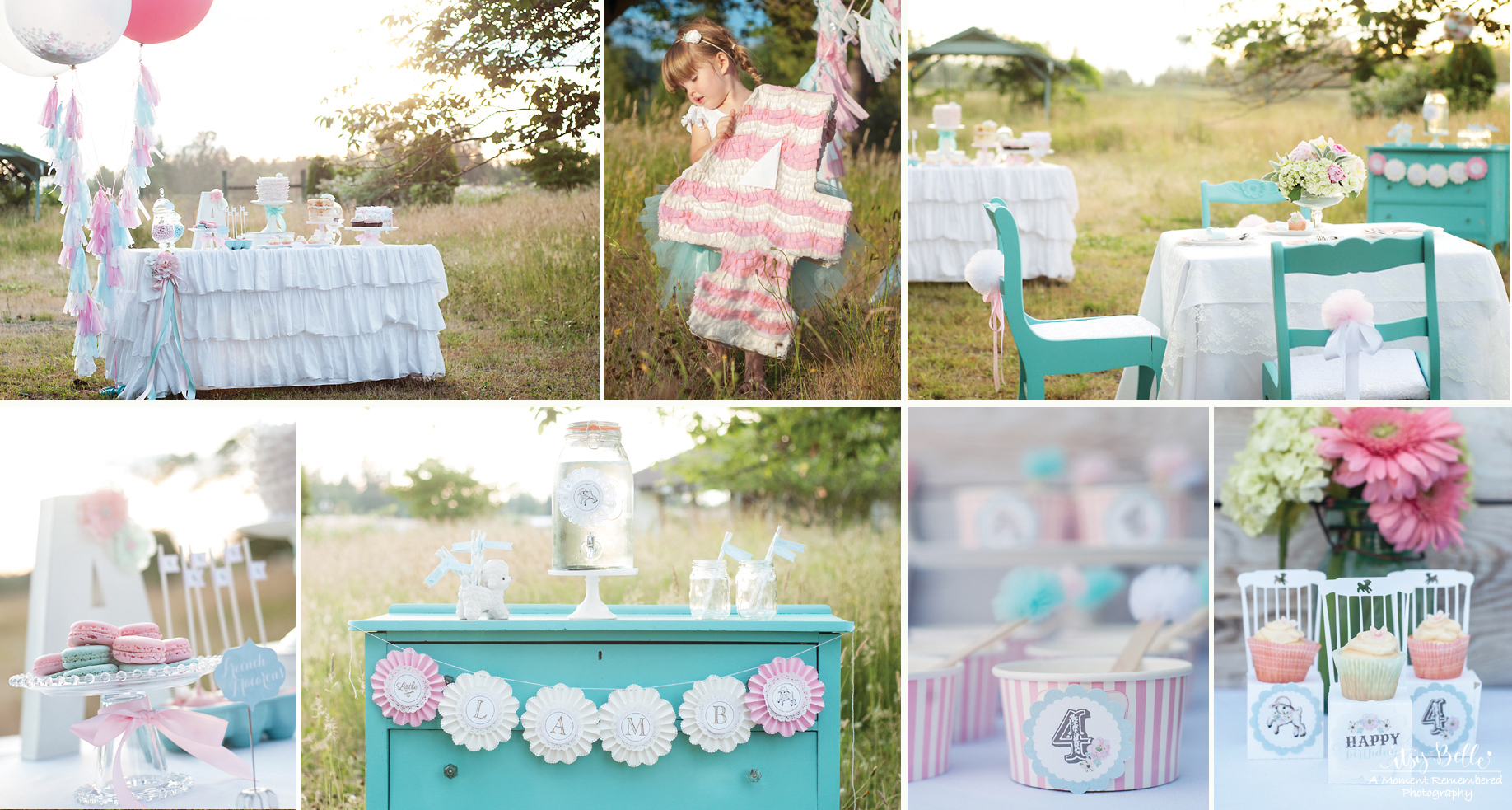 Itsy Belles Little Lamb Vintage Birthday Party Girls Birthdsay Ideas