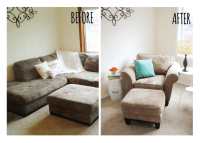 Living Room Makeover - Before and After - Itsy Belle