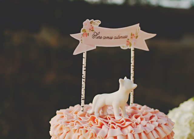 Here comes cuteness cake topper